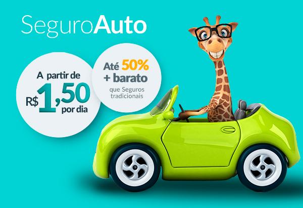 Seguro Auto - A partir de R$1,50 por dia. Até 50% mais barato que seguros tradicionais.