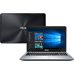 Notebook Asus X555UB-BRA-XX299T Intel Core i5 8GB (2GB de Memória Dedicada) 1TB Tela LED 15,6 Windows 10 - Preto