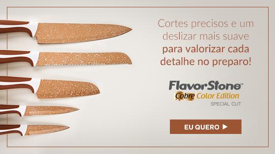 Conjunto De Facas Special Cut Flavorstone!22 Cobre Color Edition