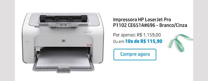 mpressora HP LaserJet Pro P1102 CE651A#696 - Branco/Cinza