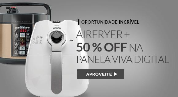 Philips Walita Airfryer + Panela De Pressão Elétrica Viva Digital (com 50% de desconto)