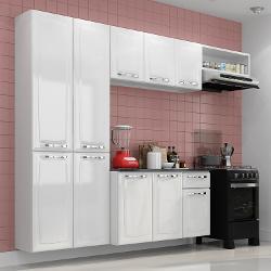 Cozinha Compacta Amanda Itatiaia Branco Nevada