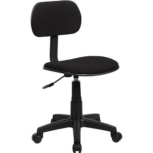 Cadeira Secretária MB-LC01G Giratória e Regulagem de Altura a Gás Preta - Travel Max