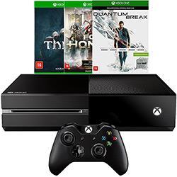 Console Xbox One 500GB + 3 Jogos + Controle Sem Fio - Microsoft