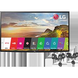 Smart TV LG LED 43 43LH5600 Full HD Painel IPS 2 HDMI 1 USB 60Hz + Suporte Universal Fixo Para Tv De 14 A 84 Uni100 Línea