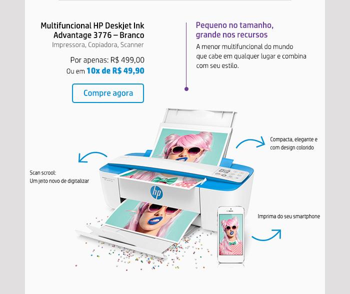 Multifuncional HP Deskjet Ink Advantage 3776  13 Branco