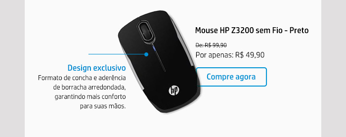 Mouse HP Z3200 sem Fio - Preto