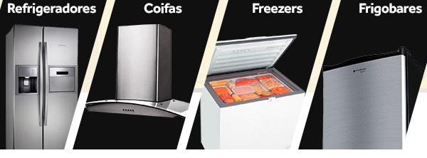 Cupom extra de 5% Off em Refrigeradores, Coifas, Freezers e Frigobares