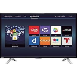 Smart TV LED 40 Toshiba 40L2600 Full HD com Conversor Digital 3 HDMI 2 USB Wi-Fi 60Hz - Preta