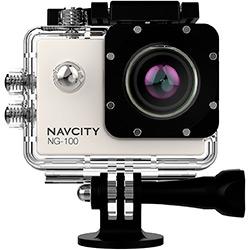 Câmera Esportiva Navcity NG-100 Prata 12MP Full HD + Case à Prova dágua 30m + Selfie Stick