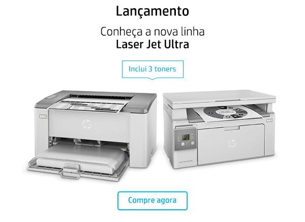 Lançamento. Conheça a nova linha Laser Jet Ultra. Inclui 3 toners. Compre agora