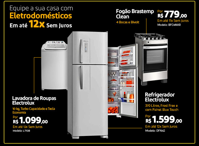 Eletrodomésticos em até 12x Sem Juros