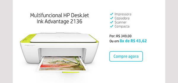 Multifuncional HP DeskJet Ink Advantage 2136