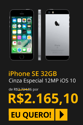Celular iPhone SE Cinza Especial 32GB 4G Câmera 12MP iOS 10 Sensor de Impressão Digital