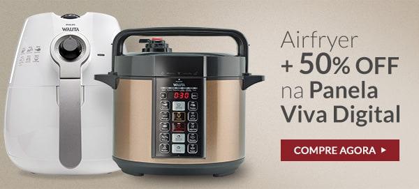 Fritadeira Elétrica Airfryer Philips Walita + Panela De Pressão Elétrica Viva Digital