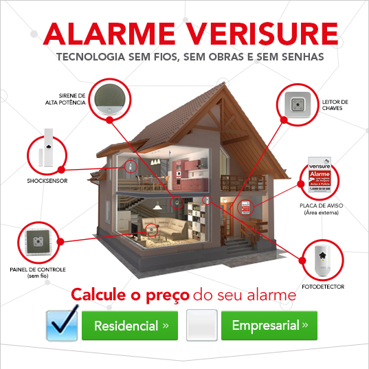 Calcule o preço do seu alarme residencial ou empresarial