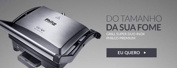 Prepara grelhados mais saudáveis e sanduíches saborosos, no tamanho da sua vontade!